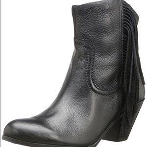Sam Edelman Fringe Booties Size 12